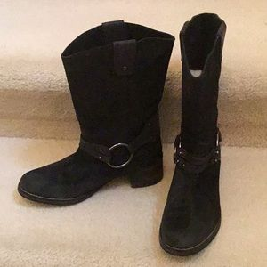 Murphy Johnston black suede Western Cowboy boots